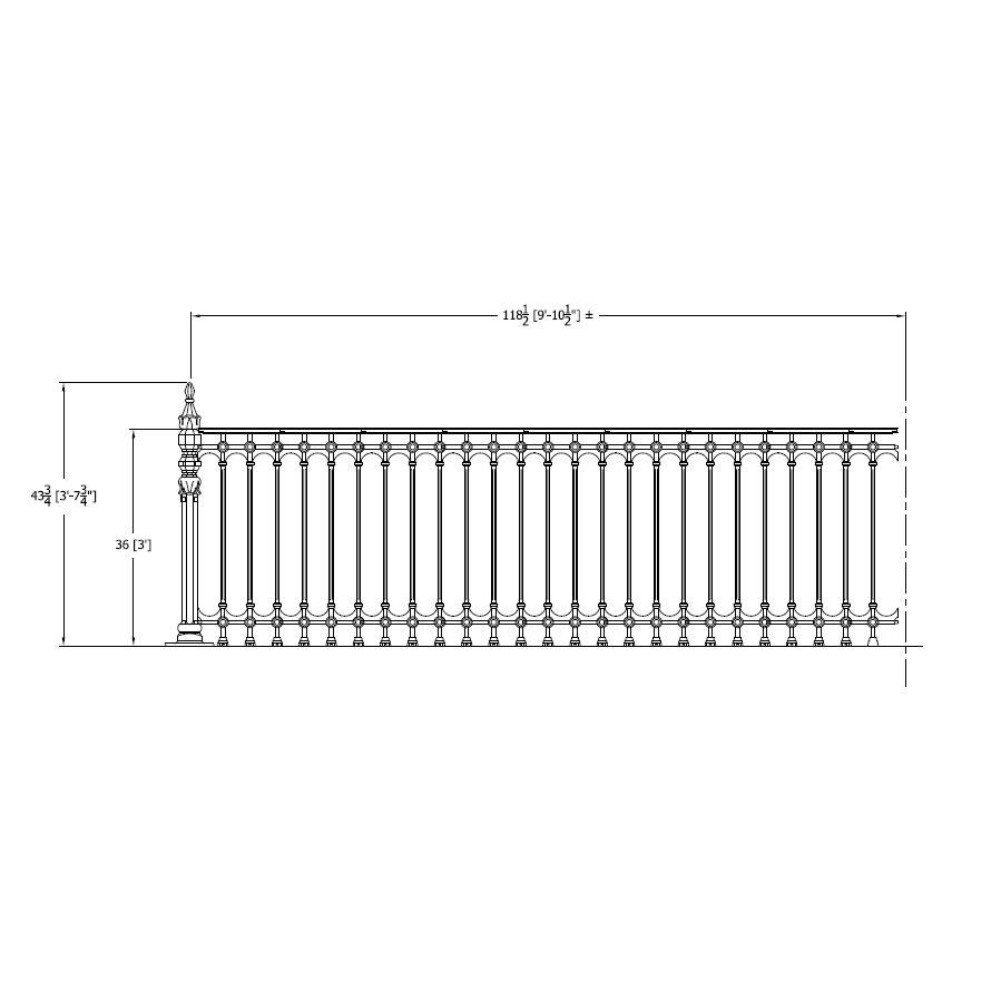 balcony railing code WG036 Walnut Grove 36 Inch Code Compliant Railing Heritage